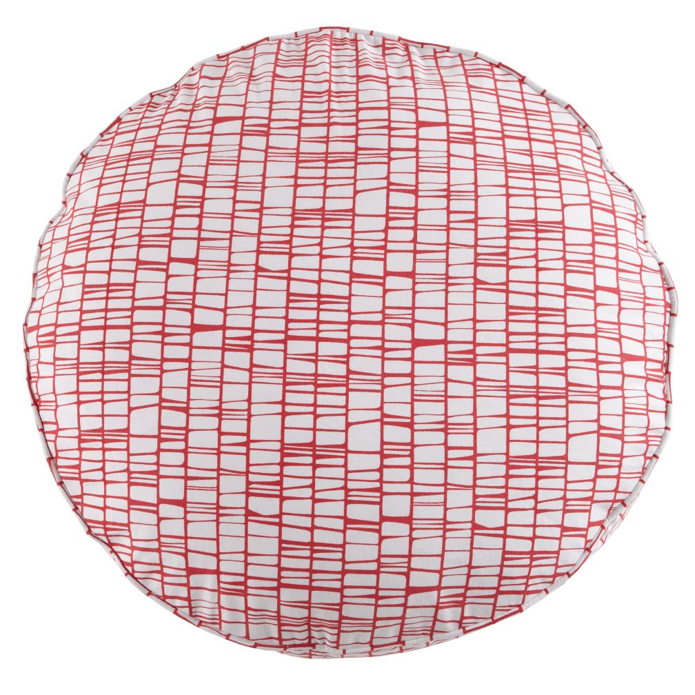 22&quot; Pink Modern Cushion