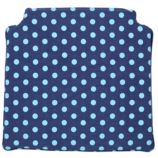 Storage Chair Cushion (Blue Dot)