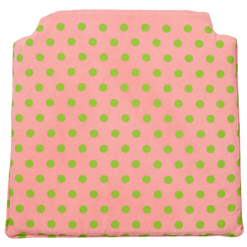 Storage Chair Cushion Pink Dot)