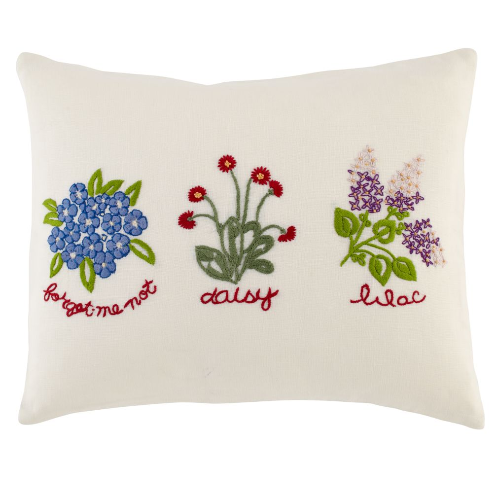 Petit Chteau Linen Floral Throw Pillow