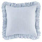 Blue Ruffle Euro Sham