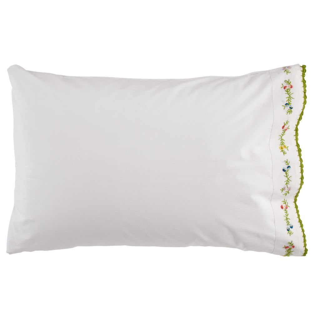Petit Chteau Embroidered Pillowcase