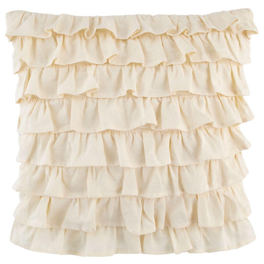 French Ruffle Throw Pillow<br />