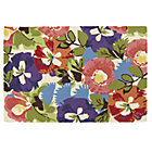 8 x 10' Poppies and Pansies Floral Rug