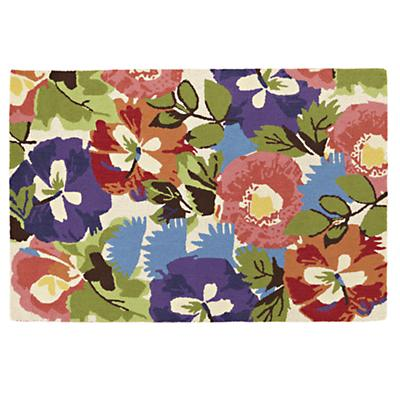 8 x 10' Poppies and Pansies Rug