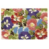 Poppies and Pansies Rug