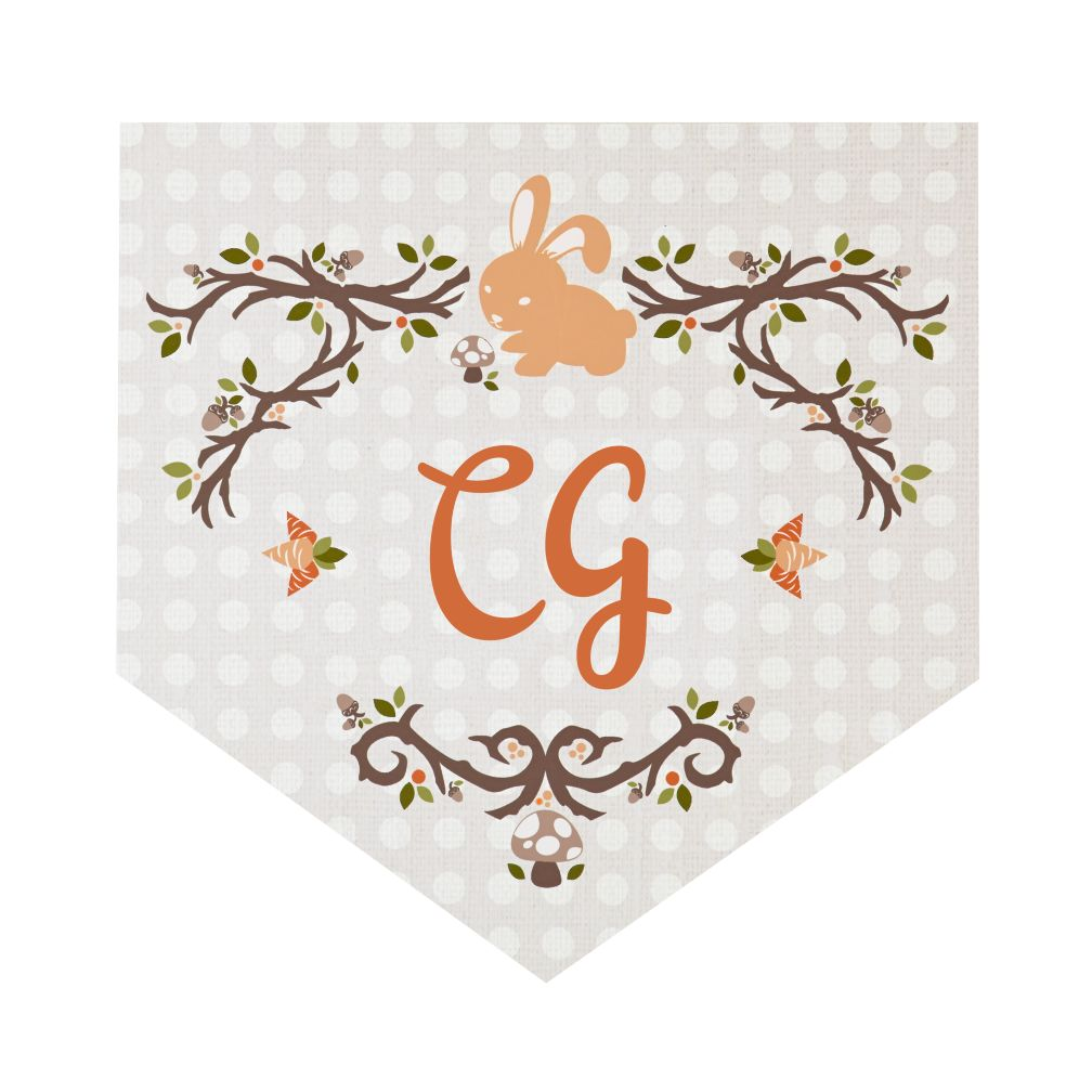 Fable Monogram Wall Decals (Bunny)