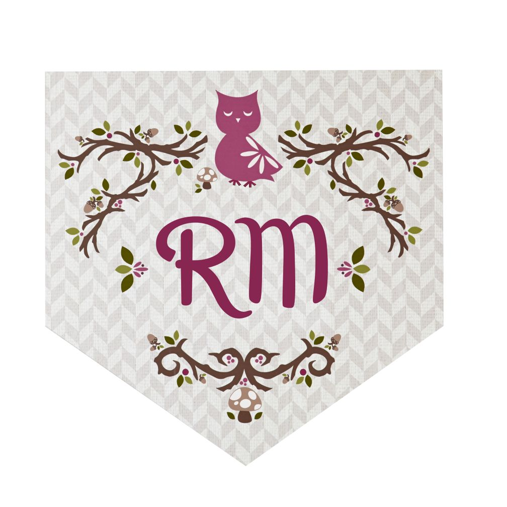 Fable Monogram Wall Decals (Owl)