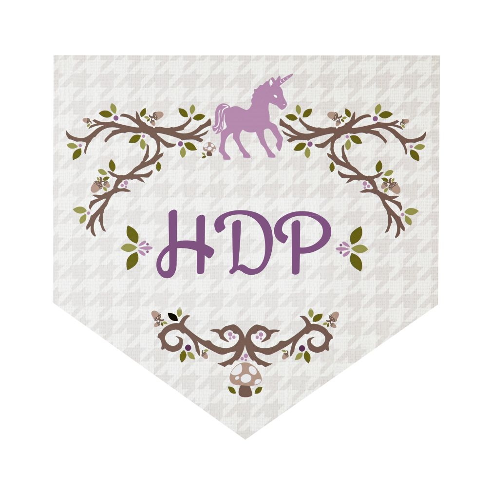 Fable Monogram Wall Decals (Unicorn)