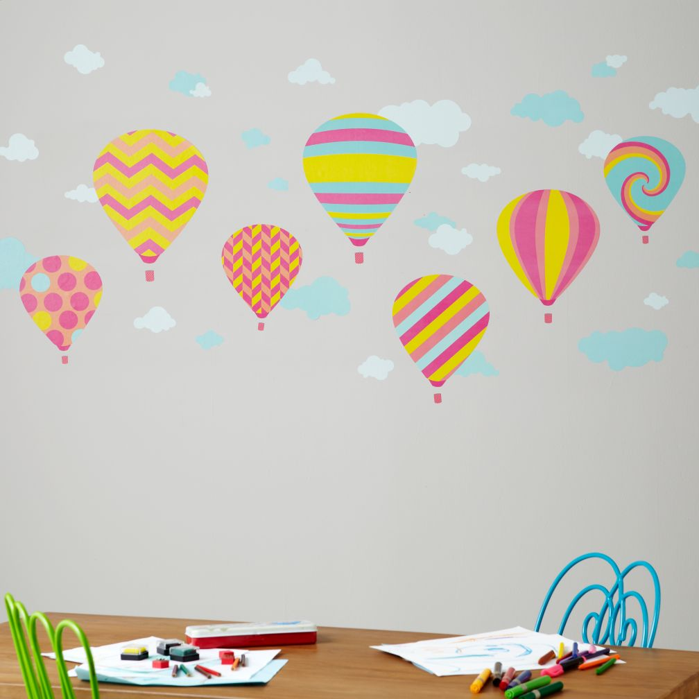 Balloon Race Wall Decals (Girl)