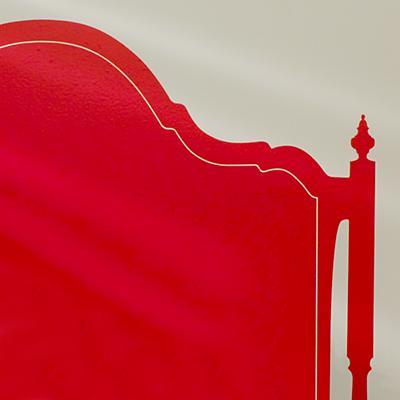 Olivia Queen Headboard Decal (Red)