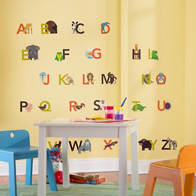 Animals Alphabetized Wall Decals