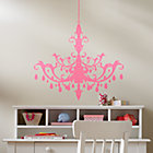 Pink Chandelier Stick On