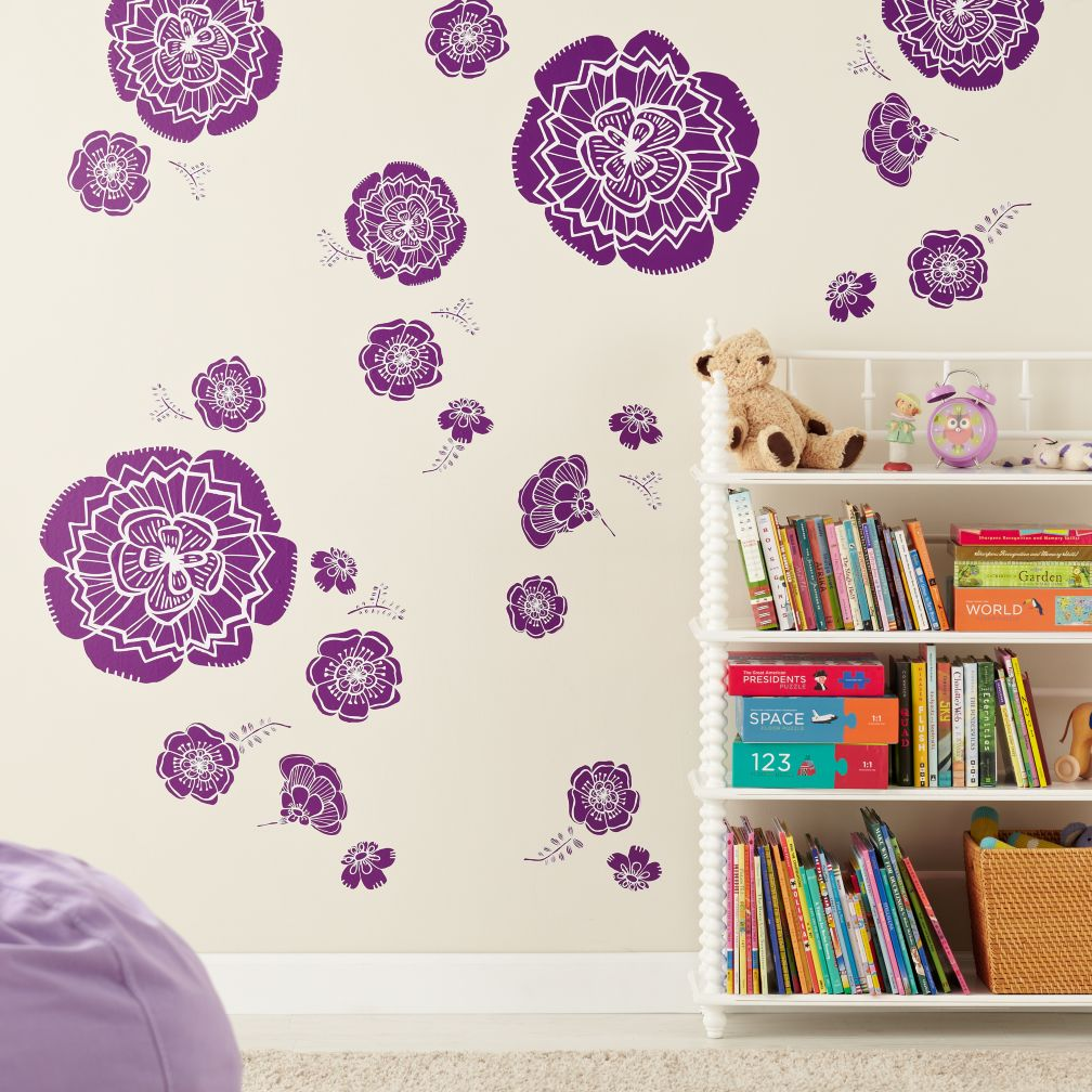 Bursting Bloom Flower Decal (Purple)