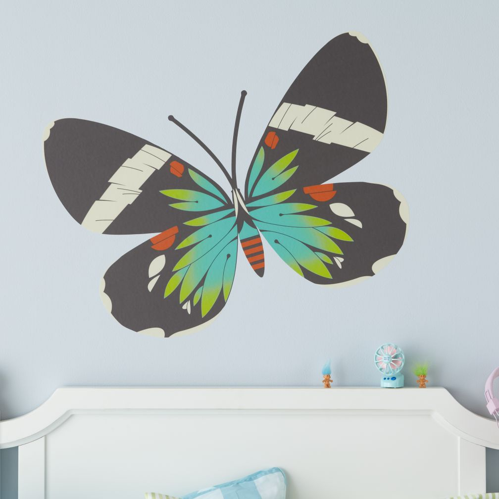 Fig. 1 Butterfly Decals (Blue Moth)