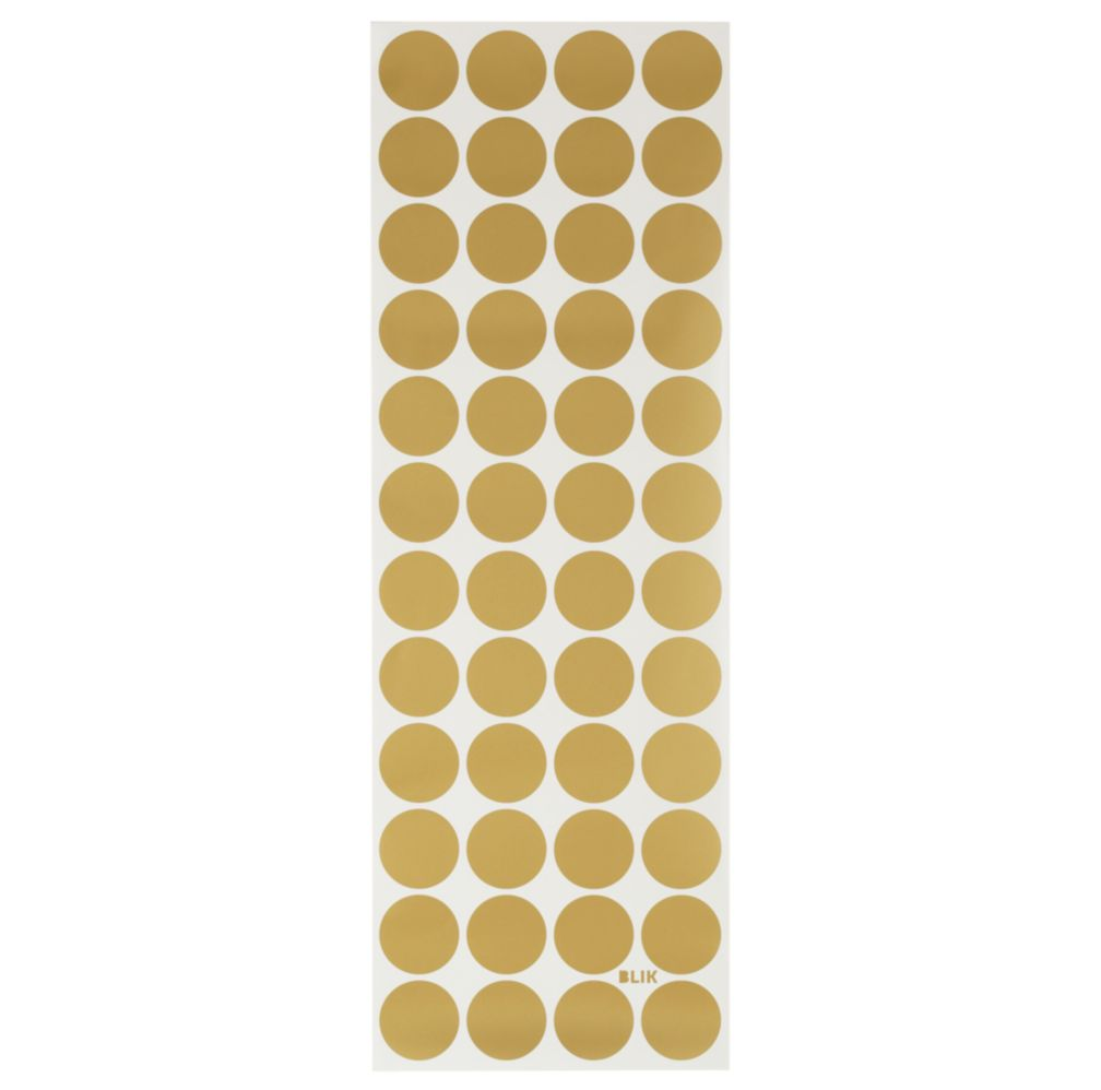 Gold Lottie Dots Decal Set