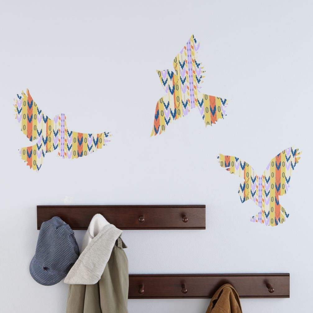 Birds Flashy Forest Wall Decals (Set of 3)