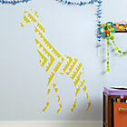 Large Giraffe Flashy Decal
