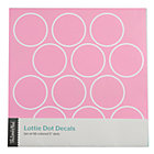 Pink Lottie Dots Decal Set