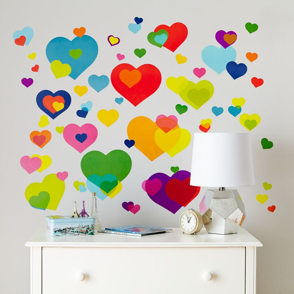 Overlapping Heart Decals