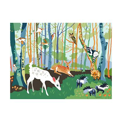 Painted Forest Mural Decal