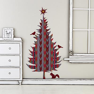 Flashy Forest Holiday Tree Decal