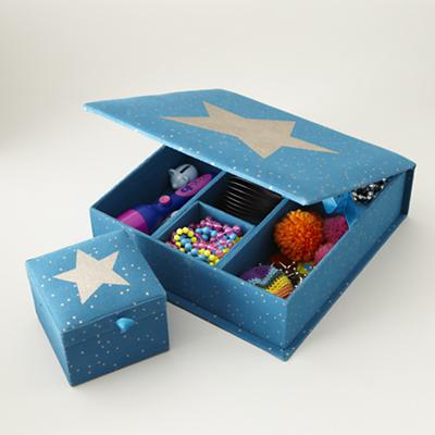 Sparkle Storage Boxes (Teal)