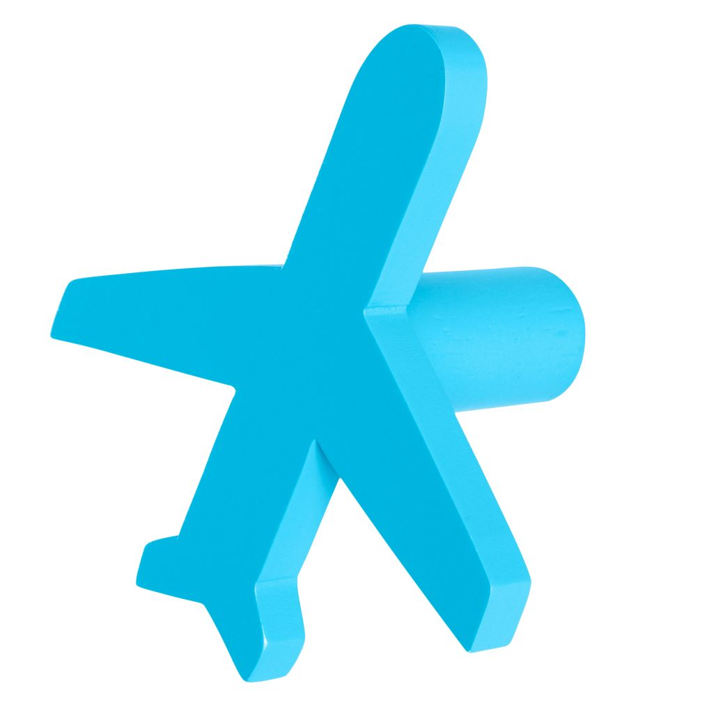Can't Miss Airplane Knob (Blue)