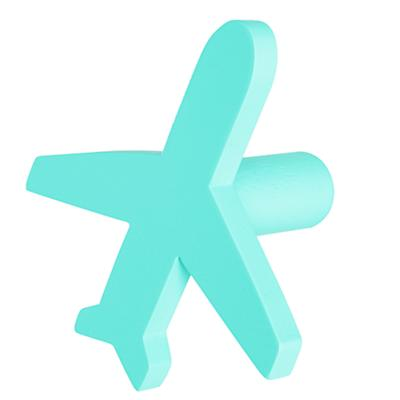 Can't Miss Airplane Knob (Aqua)
