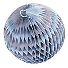 Large Purple Well Rounded Paper Ball