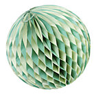Large Green Well Rounded Paper Ball