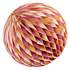 Large Orange Well Rounded Paper Ball