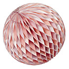 Large Pink Well Rounded Paper Ball