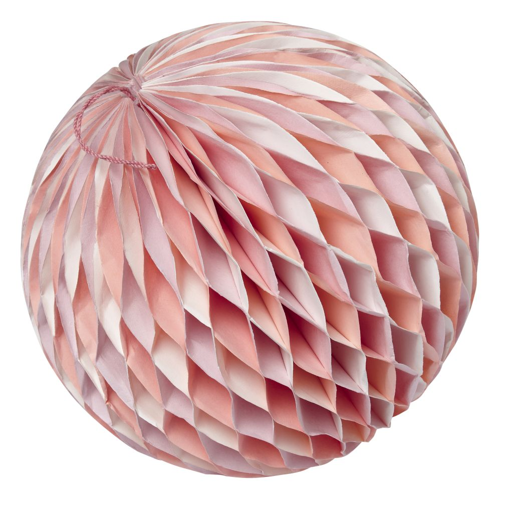 Large Well Rounded Paper Ball (Pink)