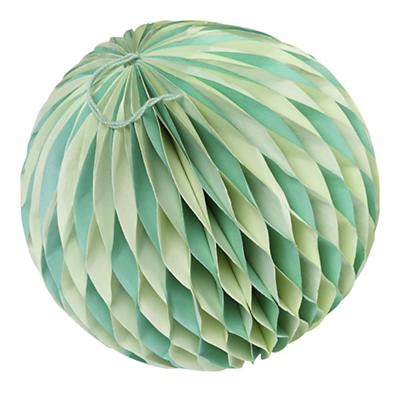 Medium Well Rounded Paper Ball (Green)
