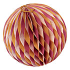 Medium Orange Well Rounded Paper Ball