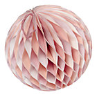 Medium Pink Well Rounded Paper Ball