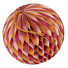 Small Orange Well Rounded Paper Ball