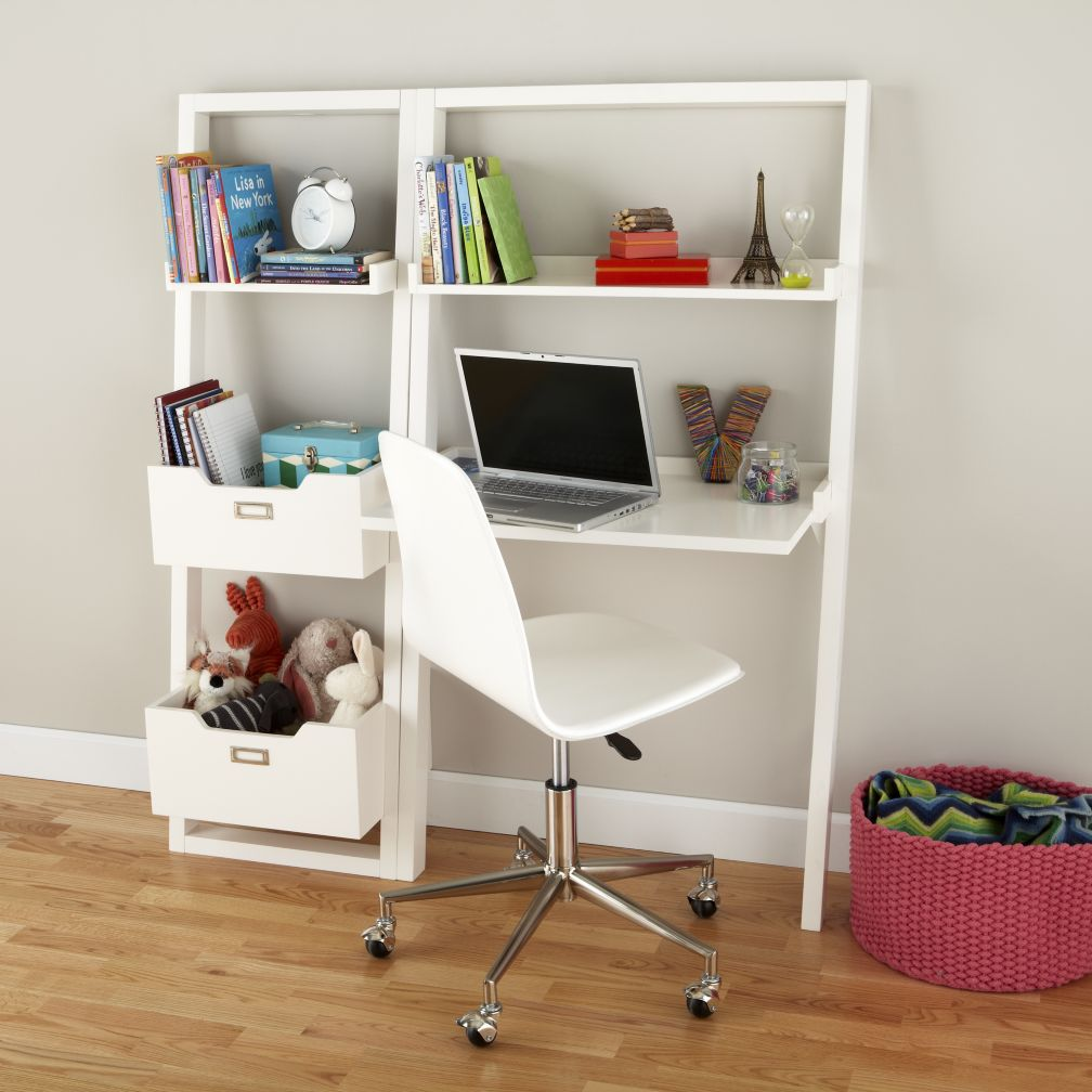 Kids desks the land of nod for White bookcase for kids room