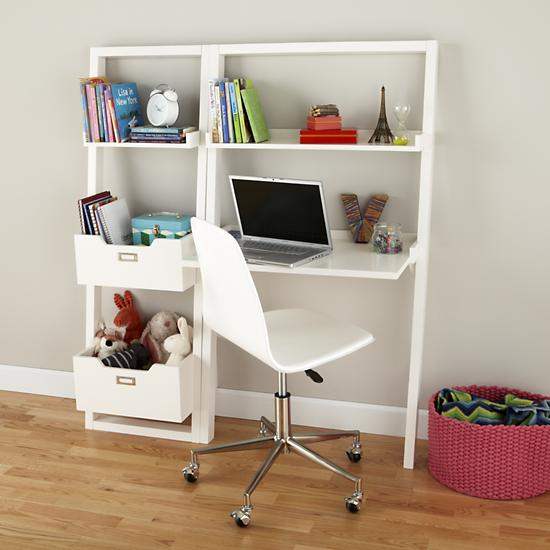 Kids Desk Kids White Leaning Wall Desk The Land Of Nod