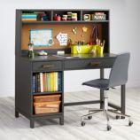 Cargo Desk & Hutch (Charcoal)