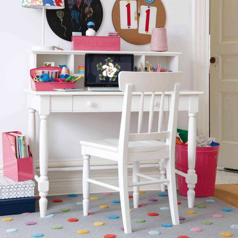 Jenny Lind Desk & Hutch (White)