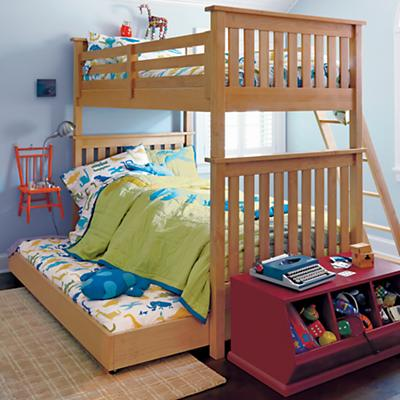 Simple Trundle Bed (Natural)