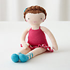 Brown Hair Knit Crowd Doll