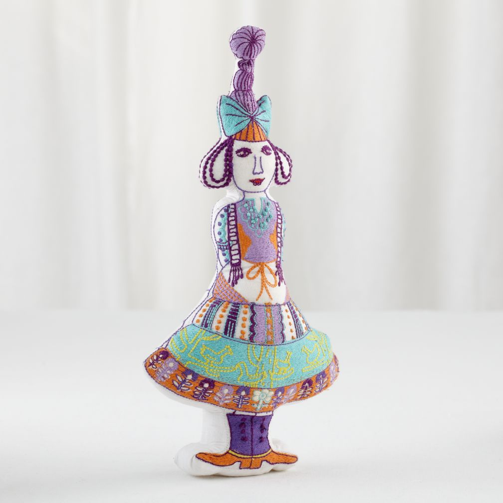 Embroidered Frankie Doll