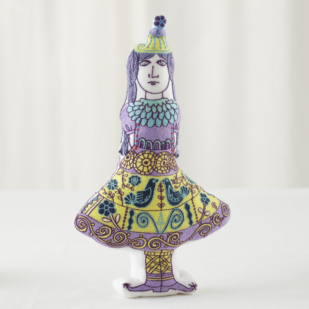 Embroidered Ines Doll