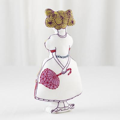 Embroidered Lolly Doll