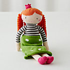 Orange Hair Knit Crowd Doll