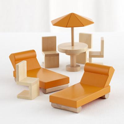 Modern Dollhouse Outdoor Set