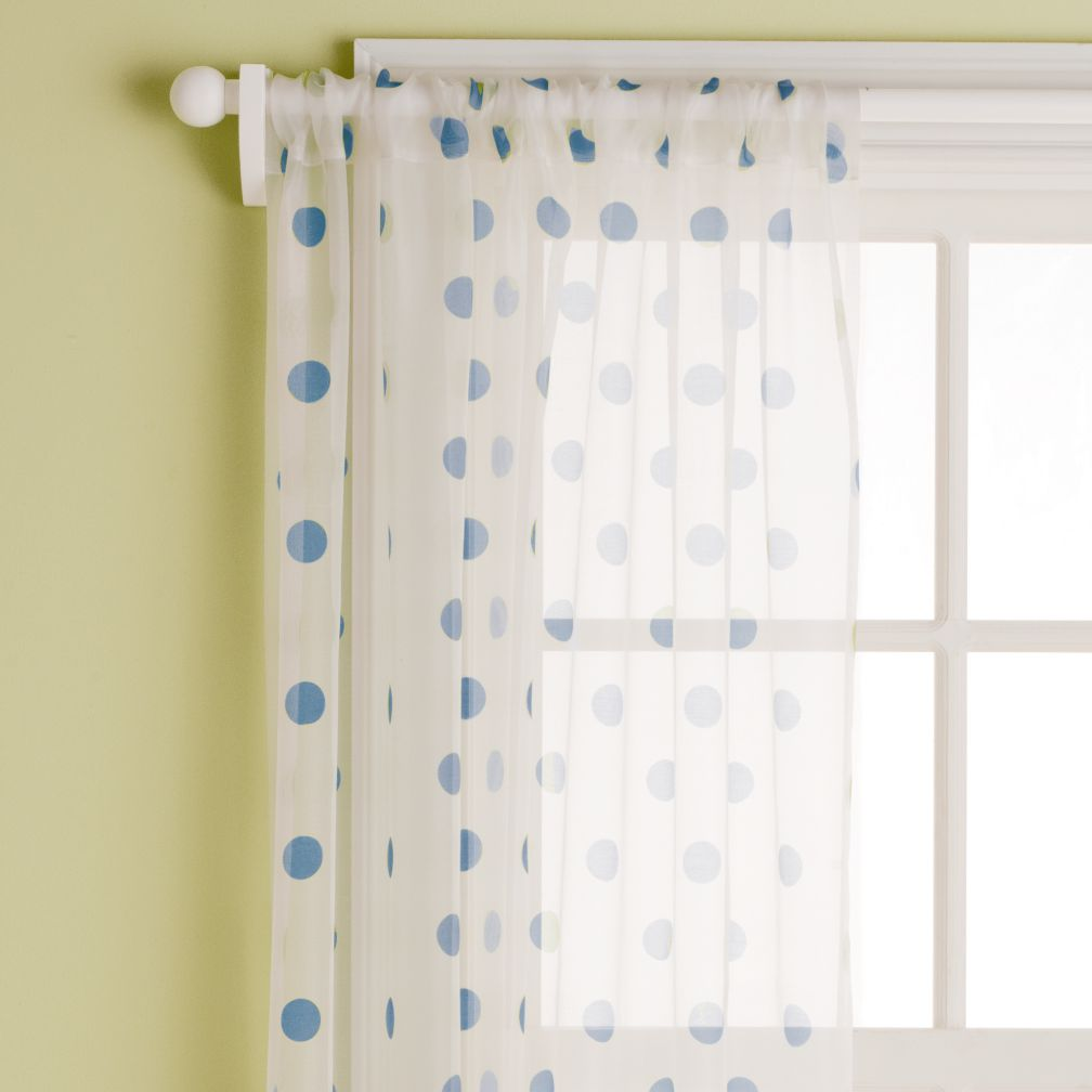 "63"" Dot Curtain Panel (Blue)"